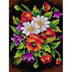 TAPESTRY CANVAS Bouquet of Wild Flowers 18x24cm 2477F