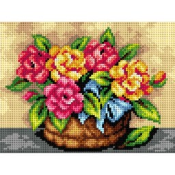 TAPESTRY CANVAS Flowers 18x24cm 2547F