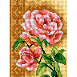 TAPESTRY CANVAS Roses 18x24cm 2585F