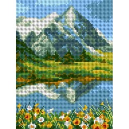 TAPESTRY CANVAS Summer in the Mountains 18x24cm 2624F