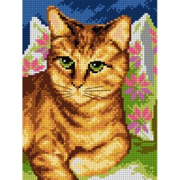 TAPESTRY CANVAS Cat 18x24cm 2625F