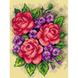 TAPESTRY CANVAS Bouquet of Roses 18x24cm 2650F