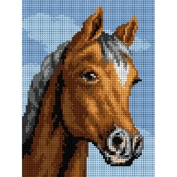 TAPESTRY CANVAS Horse 18x24cm 2697F