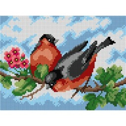 TAPESTRY CANVAS Birds 18x24cm 2771F