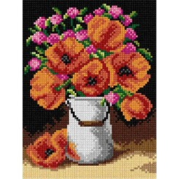 TAPESTRY CANVAS Poppies 18x24cm 2894F