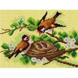 TAPESTRY CANVAS Birds after Catharina Klein 18x24cm 2930F
