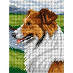 TAPESTRY CANVAS Collie 18x24cm 2936F