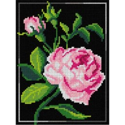 TAPESTRY CANVAS Rose 18x24cm 2983F