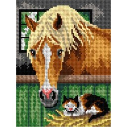 TAPESTRY CANVAS In the Stable 18x24cm 3040F