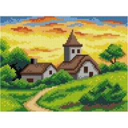 TAPESTRY CANVAS Sunset 18x24cm 3072F