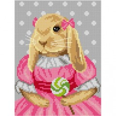 TAPESTRY CANVAS Bunny 18x24cm 3081F