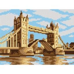 TAPESTRY CANVAS London Tower Bridge 18x24cm 3161F