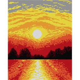 TAPESTRY CANVAS The Sun 24X30cm 1529H