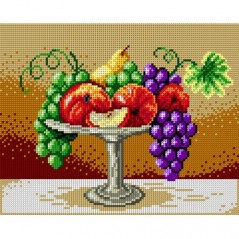TAPESTRY CANVAS Plate of Fresh Fruits 24X30cm 1653H