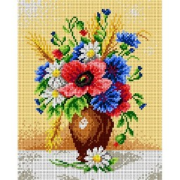TAPESTRY CANVAS Bouquet of Wild Flower 24X30cm 1863H