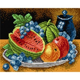 TAPESTRY CANVAS Still Life with Watermelon 24X30cm 1934H