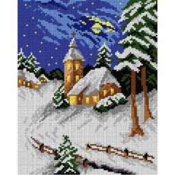 TAPESTRY CANVAS Winter Landscape 24X30cm 1943H