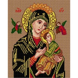 TAPESTRY CANVAS Madonna and Child 24X30cm 1946H