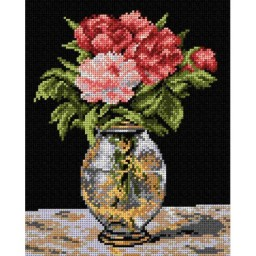 TAPESTRY CANVAS Peonies after Claude Monet 24X30cm 2043H