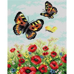 TAPESTRY CANVAS Butterflies on a Meadow 24X30cm 2142H
