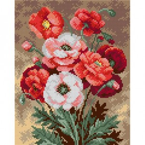 TAPESTRY CANVAS Bouquet of Poppies 24X30cm 2214H