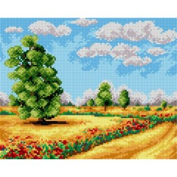 TAPESTRY CANVAS Summer Landscape 24X30cm 2393H