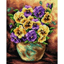 TAPESTRY CANVAS Bouquet of Pansies 24X30cm 2403H
