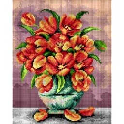 TAPESTRY CANVAS Bouquet of Tulips 24X30cm 2410H