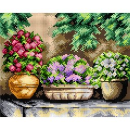 TAPESTRY CANVAS Flowers in My Garden 24X30cm 2411H