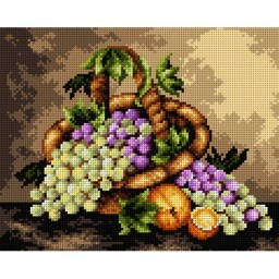 TAPESTRY CANVAS Still Life with Fruit 24X30cm 2417H