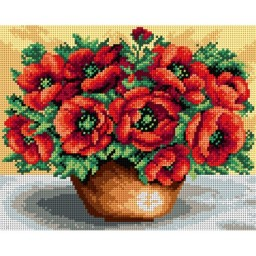 TAPESTRY CANVAS Bouquet of Poppies 24X30cm 2419H