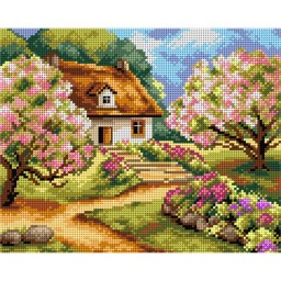 TAPESTRY CANVAS Spring road 24X30cm 2497H
