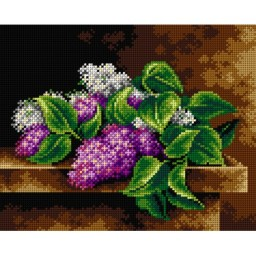 TAPESTRY CANVAS Still Life with Lilac 24X30cm 2556H