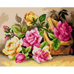 TAPESTRY CANVAS Roses from the Garden 24X30cm 2565H