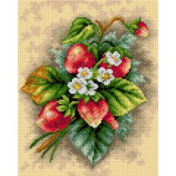 TAPESTRY CANVAS Strawberries 24X30cm 2568H