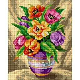 TAPESTRY CANVAS Bouquet of Tulips 24X30cm 2572H