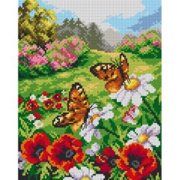 TAPESTRY CANVAS Butterflies in the Meadow 24X30cm 2628H