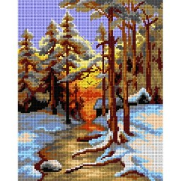 TAPESTRY CANVAS Winter Landscape 2750H