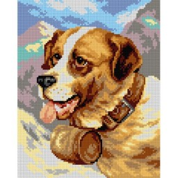 TAPESTRY CANVAS Saint Bernard after James E. Bourbill 24X30cm 2751H