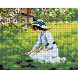 TAPESTRY CANVAS The Flowers of Spring after A. Hacker 24X30cm 2754H