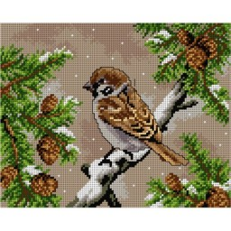 TAPESTRY CANVAS Sparrow 24X30cm 2820H