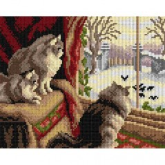 TAPESTRY CANVAS At the Window 24X30cm 2828H