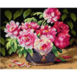 TAPESTRY CANVAS Still Life with Peonies 24X30cm 2846H