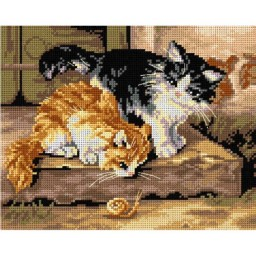 TAPESTRY CANVAS Surprise (cats) 24X30cm 2913H