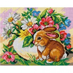 TAPESTRY CANVAS Easter Rabbit 24X30cm 3032H