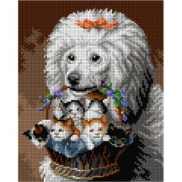 TAPESTRY CANVAS Poodle's Friends 24X30cm 3141H