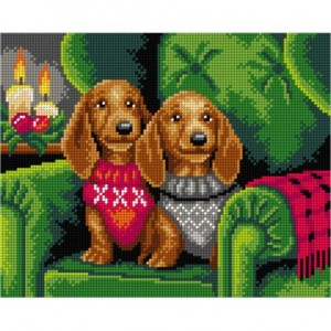 TAPESTRY CANVAS Waiting for Christmas 24X30cm 3167H