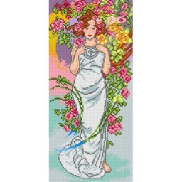 TAPESTRY CANVAS Rose after Alphonse Mucha 25X51cm 2330