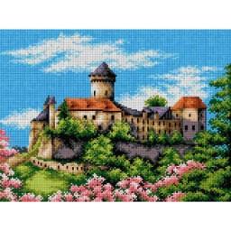 TAPESTRY CANVAS Castle 30X40cm 2385J