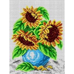 TAPESTRY CANVAS Bouquet of Sunflowers 30X40cm 1253J